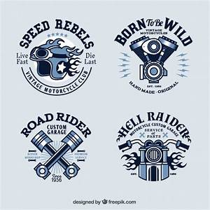 Vintage motorcycle logo collection Vector | Free Download