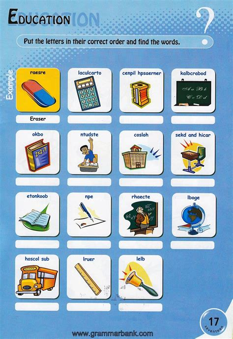 classroom items school puzzles  kids
