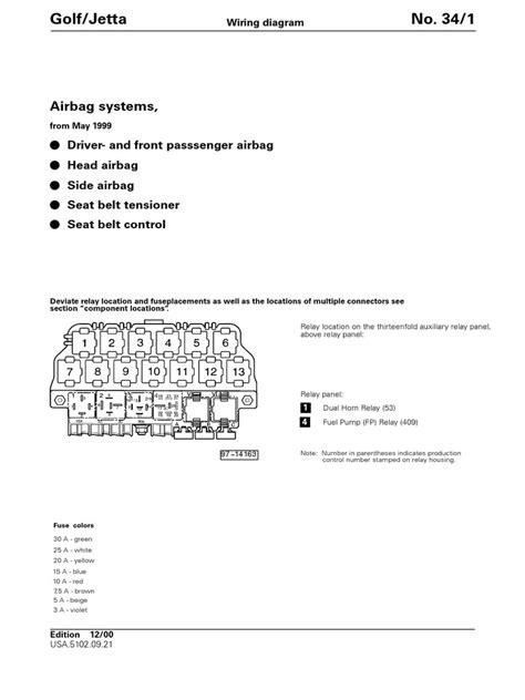 AIRBAG Schema Electrica   Airbag   Seat Belt