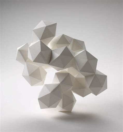 Abstract Shapes Sculpture by Daryl Ashton Made Out Of 20 Sided Shapes Massed Into