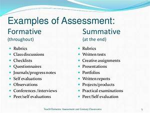 formative and summative assessments With summative assessment template