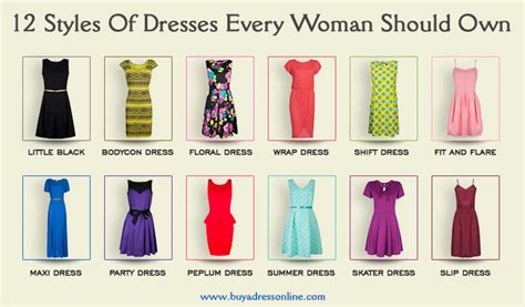 12 Types Of Dresses Every Woman Should Own