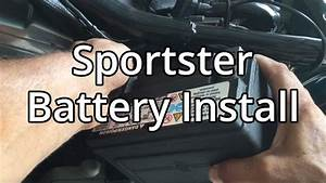 How To Harley Davidson Sportster Battery Install