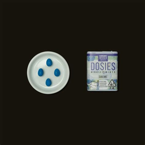Dosies Blue Raspberry Miracle Mints (66) - Sublime   Proper