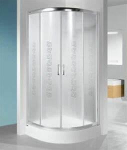 Viertelkreis Duschkabine 80x80 : duschkabine dusche viertelkreis milchglas 80 x 80 x 190 cm ~ Watch28wear.com Haus und Dekorationen