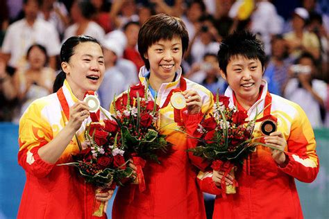 olympic games table tennis results womens team event
