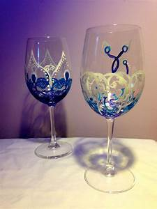 Hand, Crafted, Custom, Made, Flower, Design, Wine, Glasses, By, Dollysister, Designs