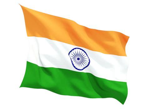 Fluttering flag. Illustration of flag of India