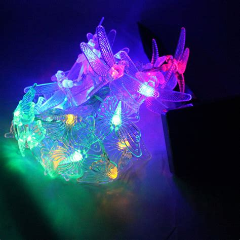 Butterfly String Lights by 20 Led Solar Butterfly Dragonfly String Lights
