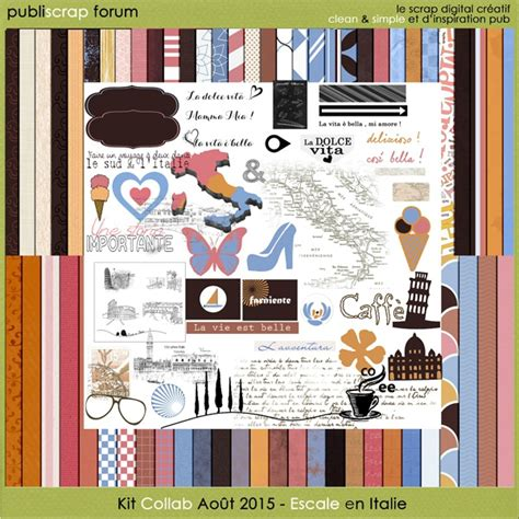 kit escale en italie freebie publiscrap le
