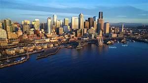 Seattle Washington Skyline In 4k