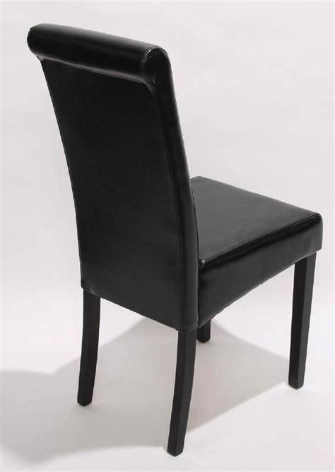 chaise simili cuir marron chaise de salle a manger simili cuir noir