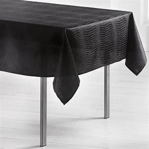 Nappe De Table : nappe rectangulaire l300 cm serpentile noir nappe de table eminza ~ Teatrodelosmanantiales.com Idées de Décoration