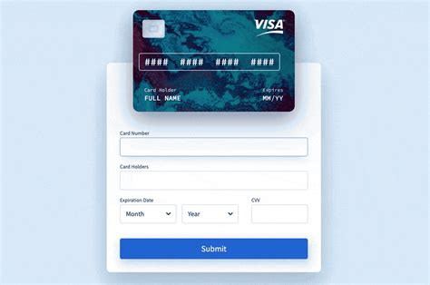 Responsive, payment, contact, with validation, with input mask, etc. Interactive Paycard - Made with Vue.js