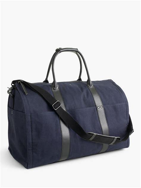 jcrew ludlow garment duffel bag navyblack  john lewis partners
