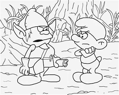 Coloring Drawing Teenagers Smurf Smurfs Printable Grouchy
