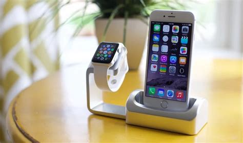 support iphone bureau duet un support de recharge apple qui accueille