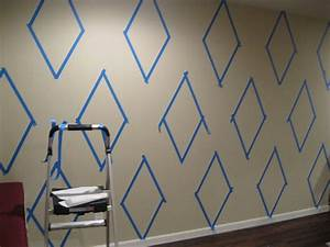 How to paint a diamond pattern on your wall maison d or