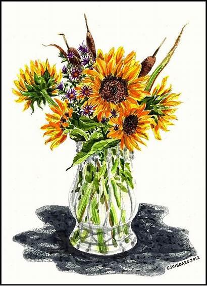 Vase Sunflower Sunflowers