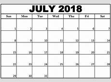 Juli 2018 Kalender Nederlands met feestdagen – Printable
