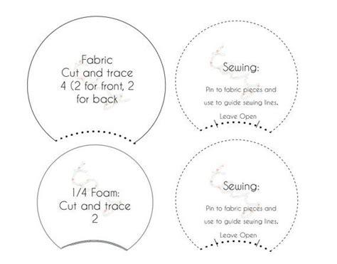 printable pattern template  diy mickey ears