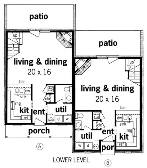 duplex floor plans for narrow lots duplex plans for narrow lots image search results