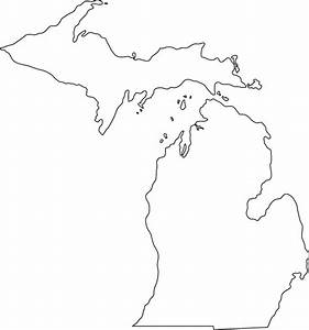 Michigan Outline Map Of Michigan