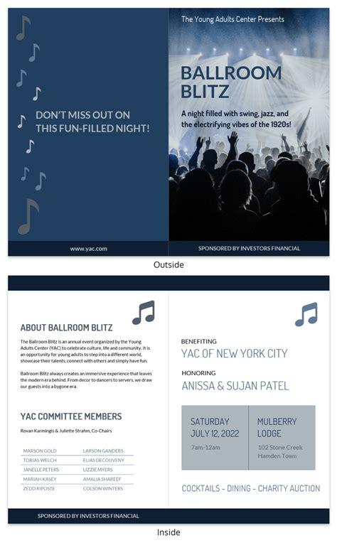 affordable templates conference program design template