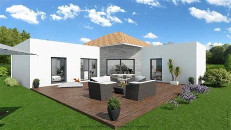 Toiture Maison En L by Constructeur De Maison Contemporaine Avec Toiture Terrasse