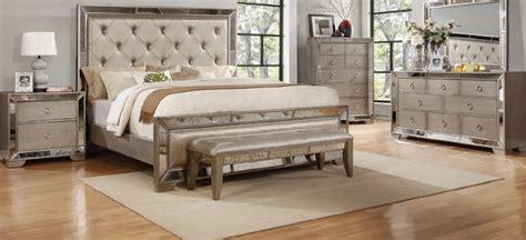 piece celine silver bronze mirror bedroom set