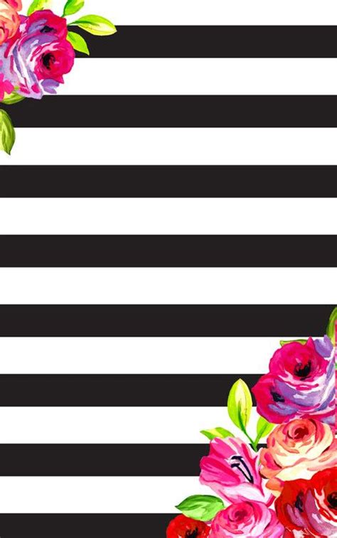 wallpaper archives cliche graphique february floral and stripes phone desktop background