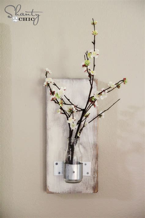 diy wall sconce glass bottle wall vase shanty 2 chic
