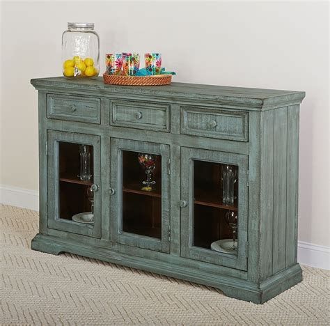 Blue Sideboard by Rustic Collectibles Sideboard Distressed Blue By Largo