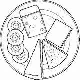 Cheese Coloring Crackers Pages Dairy Mouse Getcoloringpages sketch template