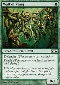 tsw deck builder bad omens wall of vines m11 mtg card