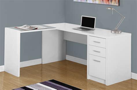 white corner desk white corner computer desk w tempered glass monarch