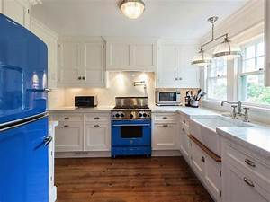 white and blue kitchen contemporary kitchen With what kind of paint to use on kitchen cabinets for cobalt blue wall art