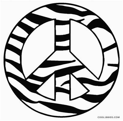 Peace Coloring Sign Pages Printable Zebra Cool2bkids