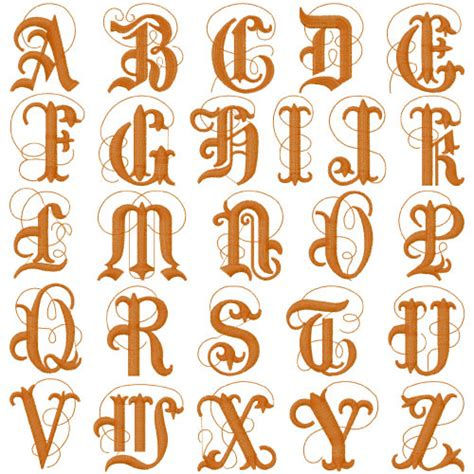 royal monograms multiple font pack  embroidery patterns