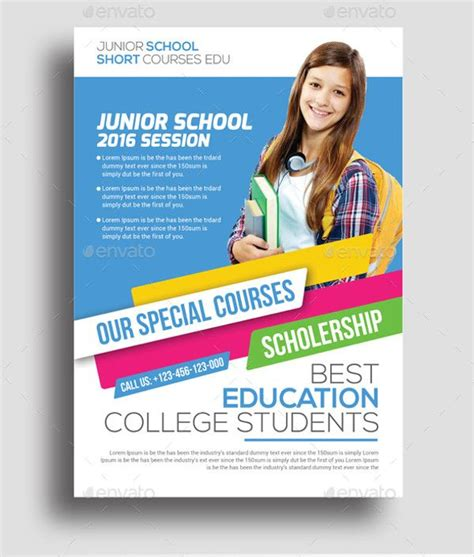 Home Design Education by Junior Education Flyer Design Education Leaflet Flyer
