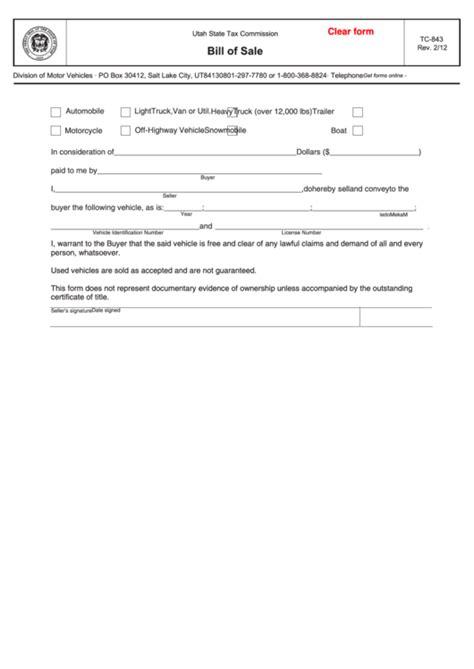 utah state tax commission bill  sale printable