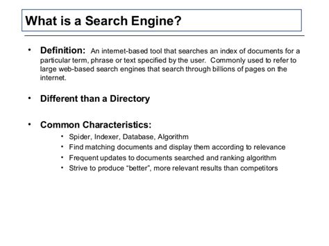 seo tools definition search engine marketing optimization seo overview ppt