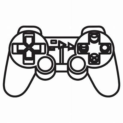 Playstation Controller Console Clipart Ps4 Ps Coloring