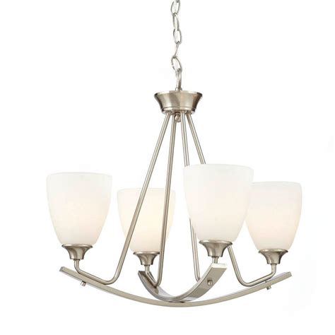 Chandeliers Lighting Collections by Home Decorators Collection 4 Light Brushed Nickel