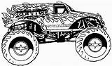 Coloring Monster Pages Printable Jam Truck sketch template