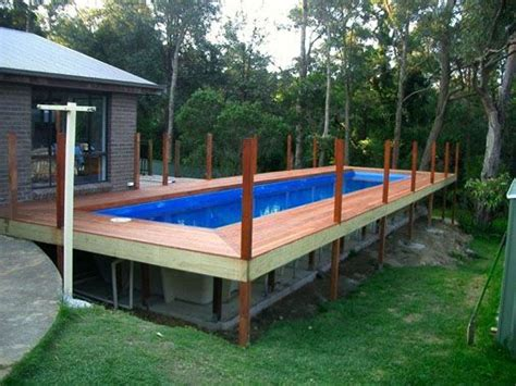 Rectangular  Ground Pools  Wooden Decks
