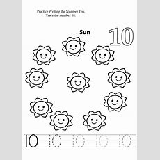 Number 10 Preschool Worksheets  Learning Printable