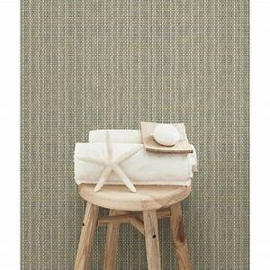 Chesapeake Kent Taupe Faux Grasscloth Wallpaper Sample ...