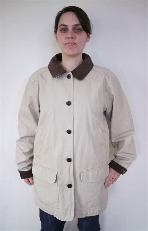 ll bean barn coat ll bean cotton canvas corduroy barn field jacket womens