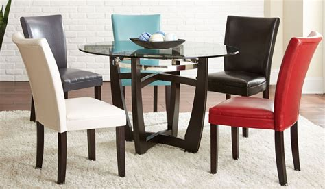matinee glass top  dining room set  steve silver